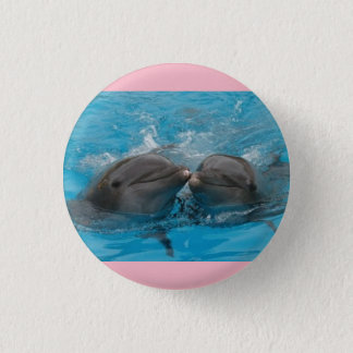 Badge Bouton rose de dauphin