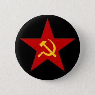 Badge Bouton rouge communiste d'étoile (marteau et
