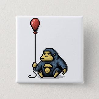 Badge Bouton rouge d'art de pixel d'ombre de ballon de