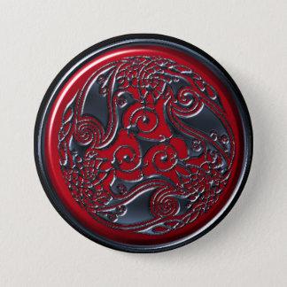 Badge Bouton rouge de bouclier de trois Ravens