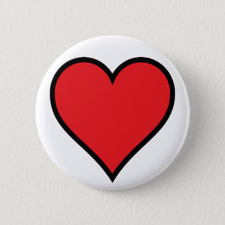 Badge Bouton rouge de coeur de CMYK