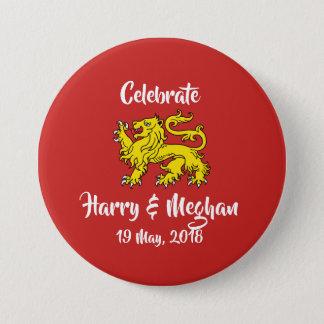 Badge Bouton royal de souvenir de mariage de lion