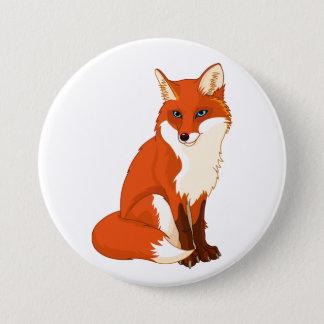 Badge Bouton se reposant mignon de Fox