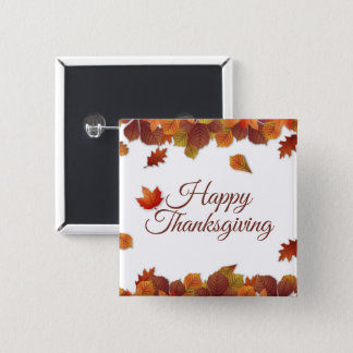 Badge Bouton simple de Pin du thanksgiving | de feuille