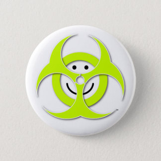 Badge Bouton souriant de Biohazard de visage