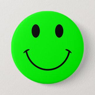 Badge Bouton souriant de visage de chaux