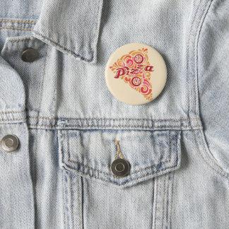 Badge Bouton stylisé de tranche de pizza