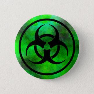Badge Bouton vert de symbole de Biohazard de brouillard
