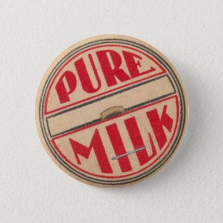 Badge Bouton vintage de casquette de bouteille à lait