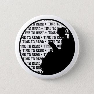 Badge Bouton vintage de Madame de lecture pour des