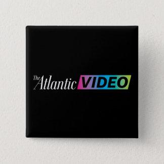 Badge Bouton visuel atlantique carré de 2 pouces