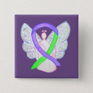 Badge Boutons d'ange de ruban de conscience de pourpre