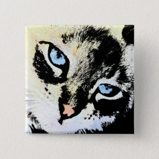 Badge Boutons de chat d'encre
