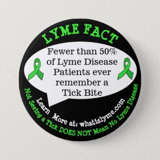 Badge Boutons de fait de la maladie de Lyme pour des