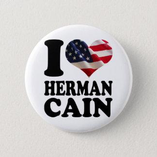Badge Boutons de Herman Caïn de drapeau américain du