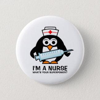 Badge Boutons drôles de soins avec l'infirmière mignonne