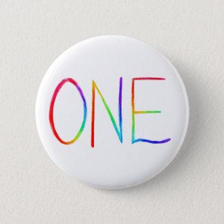 Badge Boutons inspirés d'UNE d'arc-en-ciel borne de mot