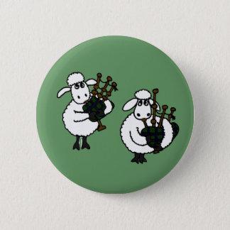 Badge BQ moutons impressionnants jouant des cornemuses