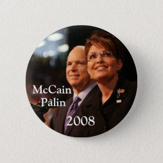 Badge button6, McCain, Palin, 2008 - customisé