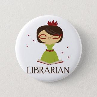 Badge Cadeau livresque de bibliothèque de bibliothécaire