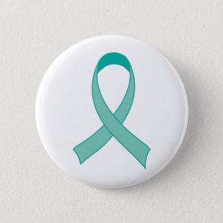 Badge Cadeau turquoise personnalisé de T-shirt de ruban