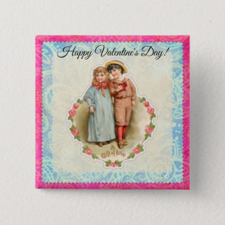 Badge Cadeau victorien vintage d'enfants de l'amour