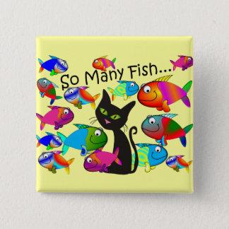"""Badge Cadeaux d'amoureux de les chats de """"tant de"""