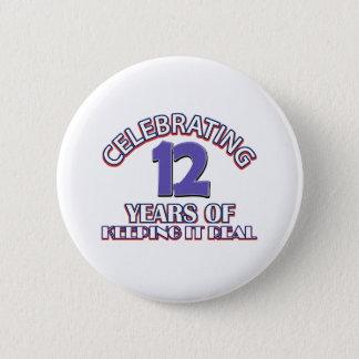 Badge cadeaux d'anniversaire de 12 ans