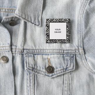 Badge Cadre noir et blanc de photo de zèbre