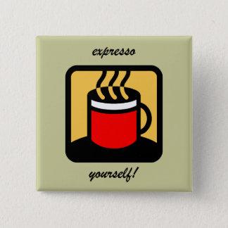 Badge Café drôle d'expresso