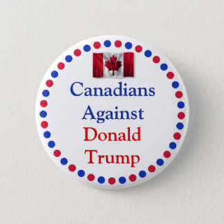 Badge Canadiens contre le bouton de Donald Trump