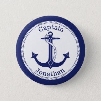 Badge Capitaine de marine nautique d'ancre personnalisé