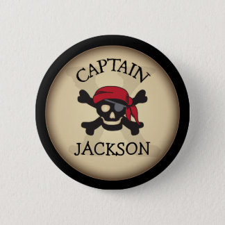 Badge Capitaine personnalisé par partie Button de pirate
