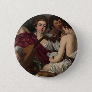 Badge Caravaggio - les musiciens - illustration