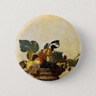Badge Caravaggio - panier de fruit - illustration