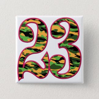Badge Carré 5 Cm 23 âge Camo