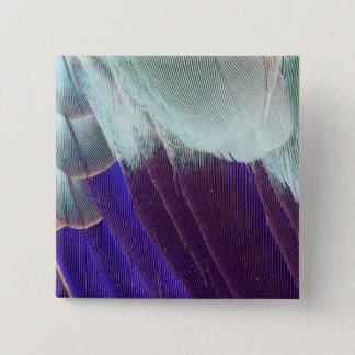 Badge Carré 5 Cm Abrégé sur lilas plume de rouleau de Breasted