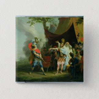 Badge Carré 5 Cm Achille a un conflit avec Agamemnon, 1776