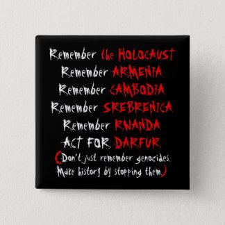 Badge Carré 5 Cm Activisme : Ne vous rappelez pas simplement les