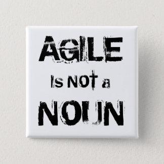 Badge Carré 5 Cm Agile n'est pas un NOM