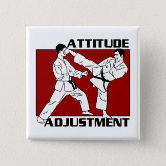 Badge Carré 5 Cm Ajustement d'attitude