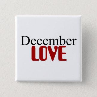 Badge Carré 5 Cm Amour de décembre