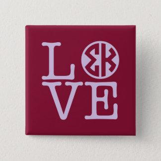 Badge Carré 5 Cm Amour de Kappa de sigma