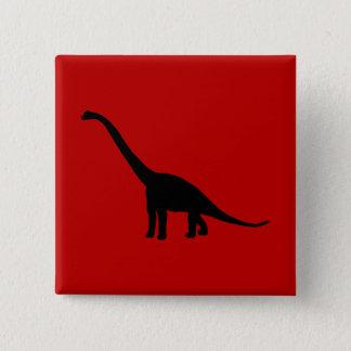 Badge Carré 5 Cm Animaux préhistoriques d'ombre de dinosaure de