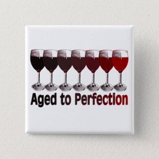 Badge Carré 5 Cm Anniversaire de vin rouge