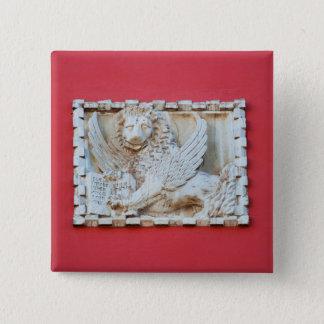 Badge Carré 5 Cm Archite à ailes vénitien de plaque de lion de