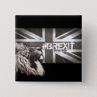 Badge Carré 5 Cm Art commémoratif de #Brexit fier de lion