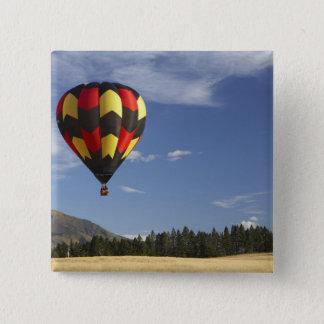 Badge Carré 5 Cm Ballon à air chaud près de Wanaka, île du sud,