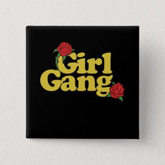 Badge Carré 5 Cm Bande de fille