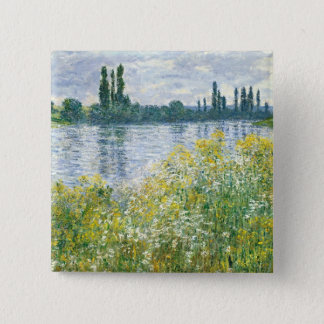 Badge Carré 5 Cm Banques de Claude Monet | de la Seine, Vetheuil,